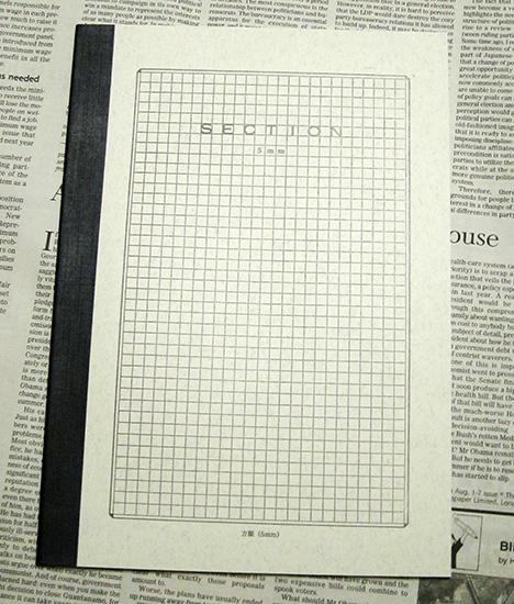 ツバメノートとyurulikuのコラボ製品 5mm方眼ノート  子どもが通う小学校ではノートとし