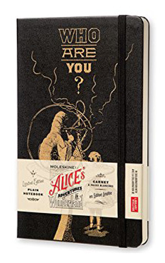Moleskine Alice's Adventures in Wonderland Limited Edition Notebook, Large, Plain, Black