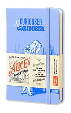 Moleskine Alice's Adventures in Wonderland Limited Edition Notebook, Pocket, Plain, Blue