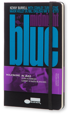 Moleskine Bluenote Limited Edition Notebook, Large, Plain, Black, Hard Cover