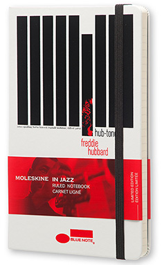 Moleskine Bluenote Limited Edition Notebook, Large, Ruled, White, Hard Cover